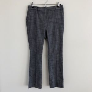 NWT WHBM Petite Textured Suiting Slim Flare Pants